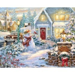 Springbok Puzzles Silent Night Lane 1000 Piece Jigsaw Puzzle