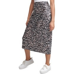 Calvin Klein Jeans Printed Pull-On Midi Skirt found on MODAPINS from Macy's for USD $34.99