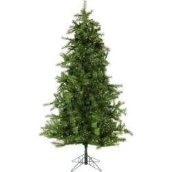 Christmas Time 6.5'. Colorado Pine Artificial Christmas Tree With Clear Led String Lighting