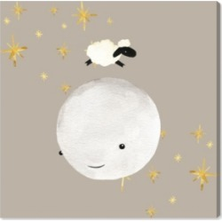 Oliver Gal Sheep Jumping Over The Moon Canvas Art, 16