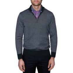 TailorByrd Men's Birdseye Quarter-Zip Sweater