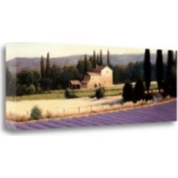 Tangletown Fine Art Lavender Fields Panel Ii Crop by James Wiens Giclee on Gallery Wrap Canvas, 39