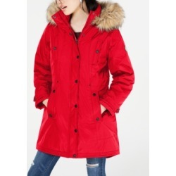Madden Girl Juniors' Hooded Faux-Fur-Trim Parka found on MODAPINS from Macy's Australia for USD $38.42