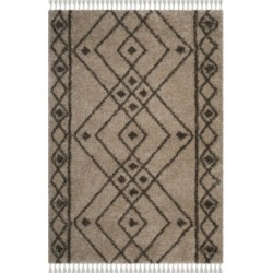 Safavieh Moroccan Fringe Shag Mushroom and Gray 4' X 6' Area Rug found on Bargain Bro from Macy's for USD $291.84