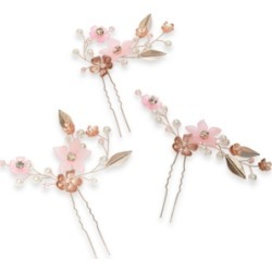 Inc 3-Pc. Gold-Tone Crystal & Imitation Pearl Flower Sprig Bobby Pin Set, Created for Macy's found on Bargain Bro Philippines from Macy's for $22.12