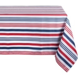 "Patriotic Stripe Outdoor Tablecloth 60"" x 120"""