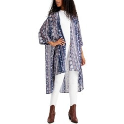 Gypsies & Moondust Juniors' Foil-Printed High-Low Kimono found on MODAPINS from Macy's for USD $39.00
