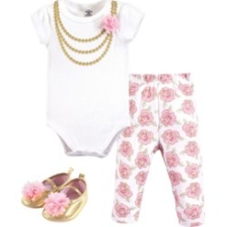 Baby Vision Little Treasure Baby Bodysuit, Pant and Shoes, 3-Piece Set