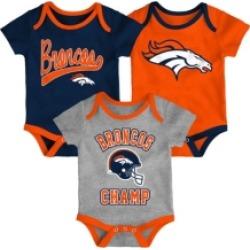 Outerstuff Denver Broncos Infant Champ Creeper Set