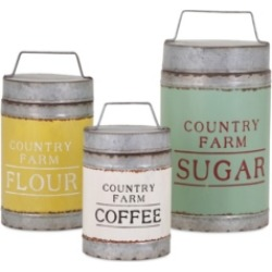 Imax Dairy Barn Decorative Lidded Containers - Set of 3