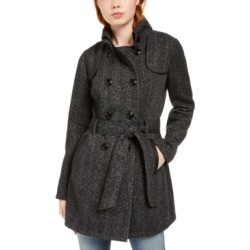 Bcx Juniors' Faux-Leather-Trim Belted Tweed Coat found on Bargain Bro India from Macys CA for $43.25