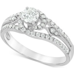 Diamond (3/4 ct. t.w.) Swirl Engagement Ring in 14k White Gold found on Bargain Bro India from Macy's for $1207.60