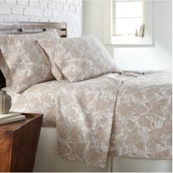 Southshore Fine Linens Perfect Paisley deep, Pocket Boho Sheet Set, California King Bedding