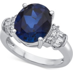 Lab-Created Sapphire (4-7/8 ct. t.w.) & White Sapphire (1/3 ct. t.w.) Ring in Sterling Silver