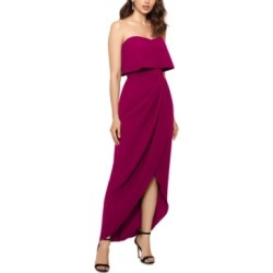 Xscape Strapless Tulip-Skirt Gown