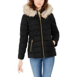 Laundry by Shelli Segal Faux-Fur-Trim Hooded Puffer Coat found on Bargain Bro Philippines from Macy's Australia for $95.13