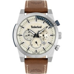 Timberland Men's Brown Leather Strap Watch 46mm found on Bargain Bro Philippines from Macy's for $169.00