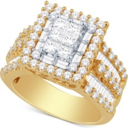 Diamond Ring (3 ct. t.w.) in 14k Gold or White Gold found on Bargain Bro India from Macy's for $5799.00