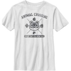 Fifth Sun Nintendo Big Boys Animal Crossing Everyday Is A New Day Logo Short Sleeve T-Shirt