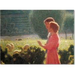 Giuseppe Pellizza da Volpedo 'Romantic Walk' Canvas Art - 32