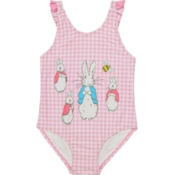 Beatrix Potter Baby Girls Gingham Print V-Back One Piece Swimsuit found on Bargain Bro India from Macys CA for $34.63