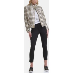 Karl Lagerfeld Tweed Bomber Jacket found on MODAPINS from Macy's for USD $89.70
