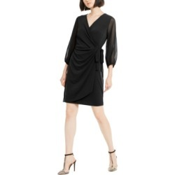 Inc Balloon-Sleeve Wrap Dress, Created for Macy's found on Bargain Bro Philippines from Macy's Australia for $33.89