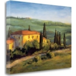 Tangletown Fine Art A Tuscan Morning by Michael Downs Fine Art Giclee Print on Gallery Wrap Canvas, 21