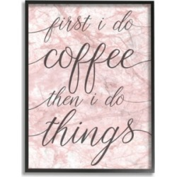"""Stupell Industries Coffee Things Framed Giclee Art, 16"""" x 20"""""""