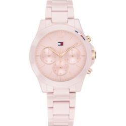 Tommy Hilfiger Women's Chronograph Blush Ceramic Bracelet Watch 38mm, Created for Macy's found on Bargain Bro Philippines from Macy's for $195.00