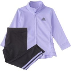 Adidas Baby Girls Long Sleeve Zip Front Ruffle Tricot Jacket & Tight Set found on Bargain Bro India from Macy's for $35.99