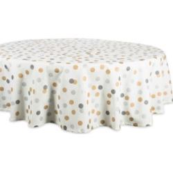 """Design Imports Metallic Confetti Tablecloth 70"""" Round"""