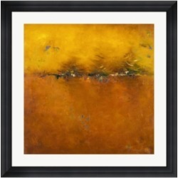 Metaverse Orange Sunset by Patricia Pinto Framed Art, 32
