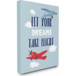 Stupell Industries Let Your Dreams Take Flight Airplanes Canvas Wall Art, 30