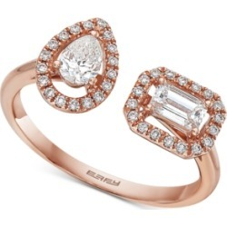 Effy Diamond Bypass Ring (5/8 ct. t.w.) in 14k Rose Gold found on Bargain Bro India from Macys CA for $1915.36