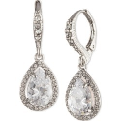 Givenchy Silver-Tone Pave & Cubic Zirconia Pear-Shape Drop Earrings found on Bargain Bro India from Macy's for $32.30