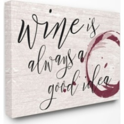 "Stupell Industries Wine is Always a Good Idea Canvas Wall Art, 30"" x 40"""