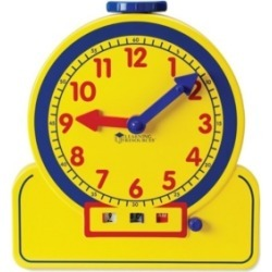 Learning Resources Primary Time Teacher 12-Hour Demonstration Learning Clock