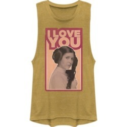 Fifth Sun Star Wars Leia I Love You Iconic Ep.5 Quote Festival Muscle Tank