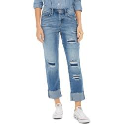 Style & Co Ripped Cuffed-Hem Boyfriend Jeans, Created For Macy's