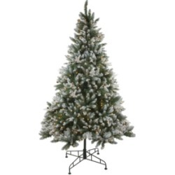 Northlight 6.5' Pre-Lit Frosted Sierra Fir Artificial Christmas Tree - Clear Lights found on Bargain Bro India from Macys CA for $781.62