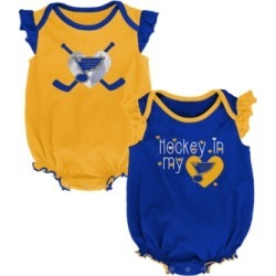 Outerstuff Baby St. Louis Blues Team Player 2 Pack Bodysuit Set