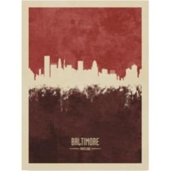 Michael Tompsett Baltimore Maryland Skyline Red Ii Canvas Art - 20