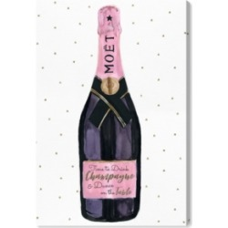 Oliver Gal Champagne and Stars Pink Canvas Art - 45