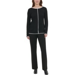 Calvin Klein Contrast-Trim Sweater found on MODAPINS from Macy's for USD $18.96