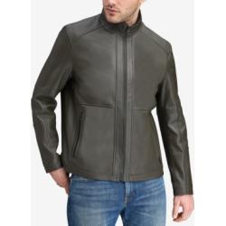 Marc New York Men's Convertible Collar Leather Jacket