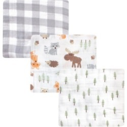 Hudson Baby Baby Girls and Boys Woodland Muslin Swaddle Blankets