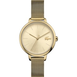 Lacoste Women's Cannes Gold-Tone Stainless Steel Mesh Bracelet Watch 34mm found on Bargain Bro India from Macy's for $165.00