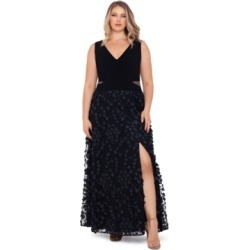 Xscape Plus Size 3D-Flower-Skirt Gown found on Bargain Bro from Macy's Australia for USD $239.62