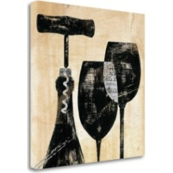 Tangletown Fine Art Wine Selection Ii by Daphne Brissonnet Giclee Print on Gallery Wrap Canvas, 29